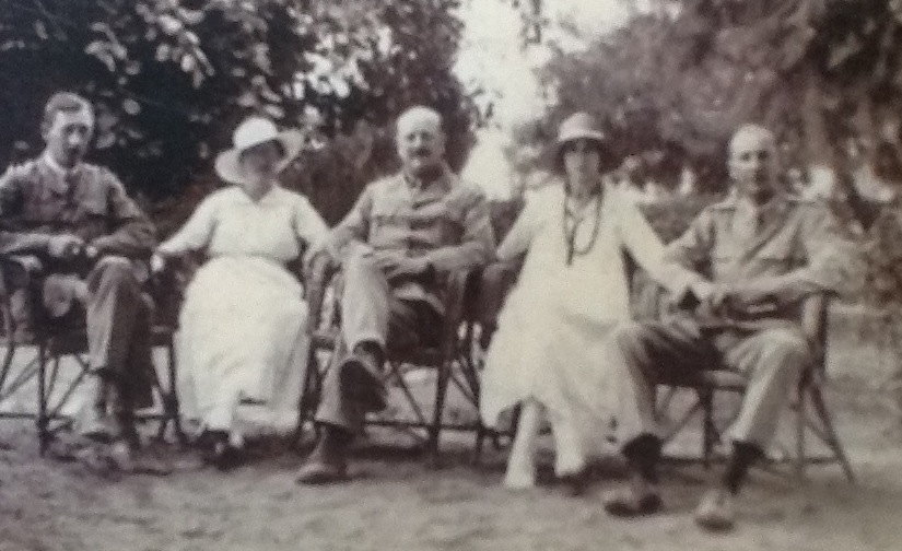 Kathleen and Arthur in Egypt about 1917. They are seated on the right.
