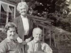 My aunt Clare and her parents, Charles and Margery Jennings c.1965
