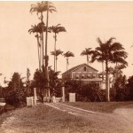 The old-time colonial mansion