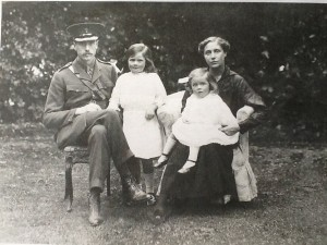 Diana Worsley aged 2 on her mother's knee. 1916