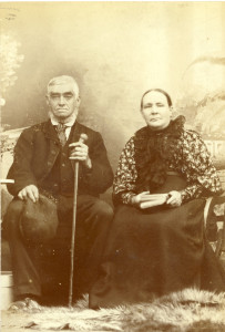 Frederick and Annie Dunkley, in old age
