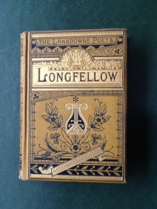 A copy of an 1880 edition of Longfellow's poems belonging to William Capel Slaughter