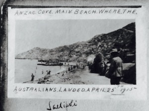 Anzac Cove April 25th 1915 , from Arthur Slaughter's album